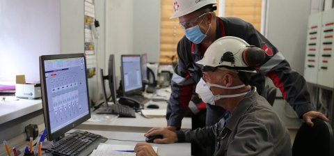 Italian experts begin the final tuning of equipment at sinter plant of Ilyich Iron and Steel Works