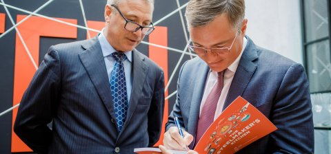 Metinvest opened an art exhibition and presented the book about steel production